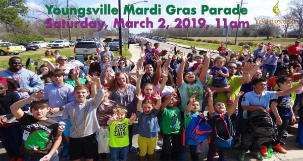 Youngsville Mardi Gras Parade @ City of Youngsville