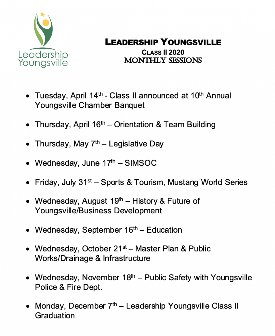 Leadership Youngsville Monthly Session