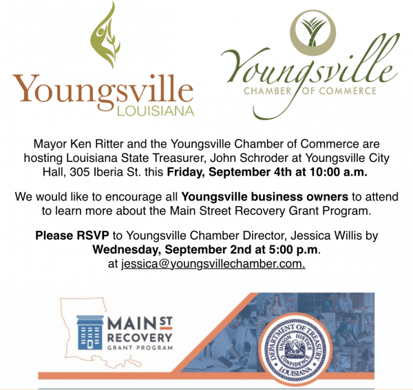 Louisiana Main St. Recovery Grant Program @ Youngsville City Hall | Mount Gilead | Ohio | United States