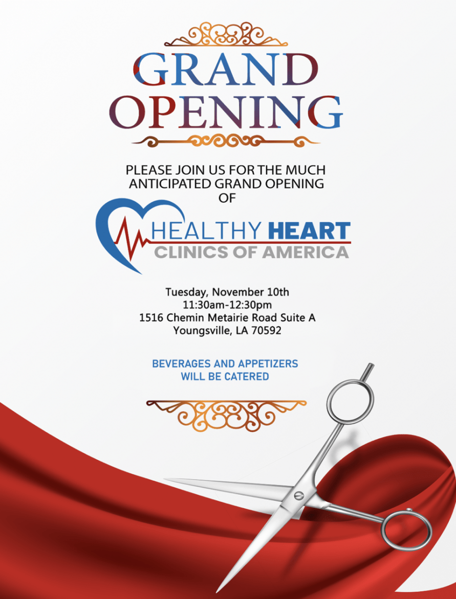 Healthy Heart Clinics - Grand Opening @ Healthy Heart Clinics of Youngsville | Youngsville | Louisiana | United States
