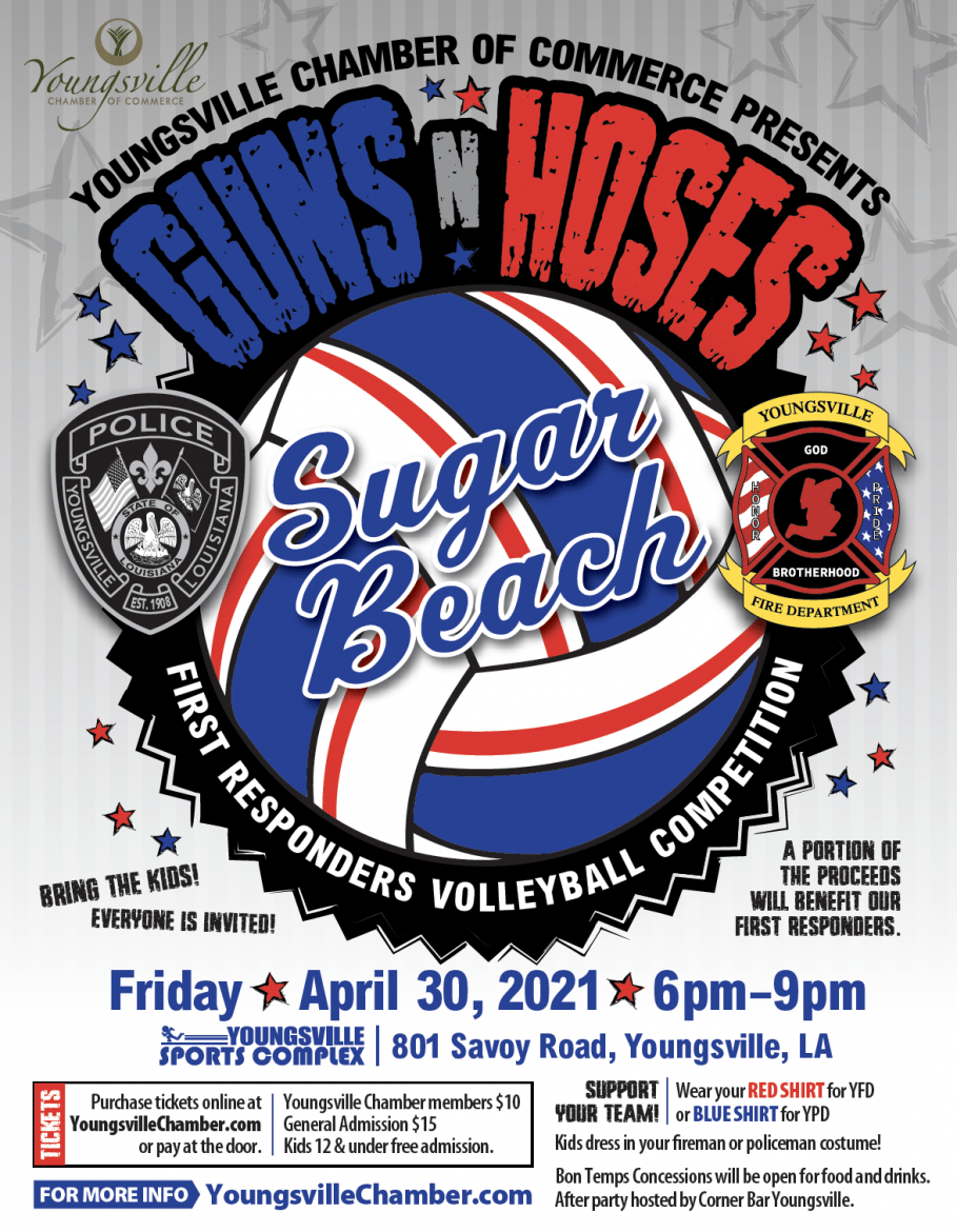 Youngsville Chamber presents Guns N' Hoses @ Youngsville Sports Complex, Sugar Beach | Youngsville | Louisiana | United States